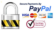Secure Payments with PayPal, no Credit Card required!